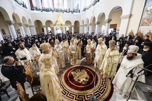 26日に行われた正教会聖大会議の聖体礼儀の様子(写真:東方正教会全地総主教庁)