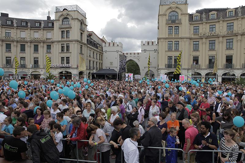 エキュメニカル大会「トゥギャザー・フォー・ヨーロッパ」の最終日に開かれた野外集会の様子=2日、ドイツ・ミュヘンで(写真:トゥギャザー・フォー・ヨーロッパ / Graf)
