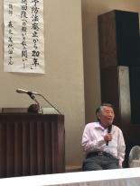元ハンセン病患者の森元美代治さん講演 「らい予防法」廃止運動、教会の実態、家族を語る