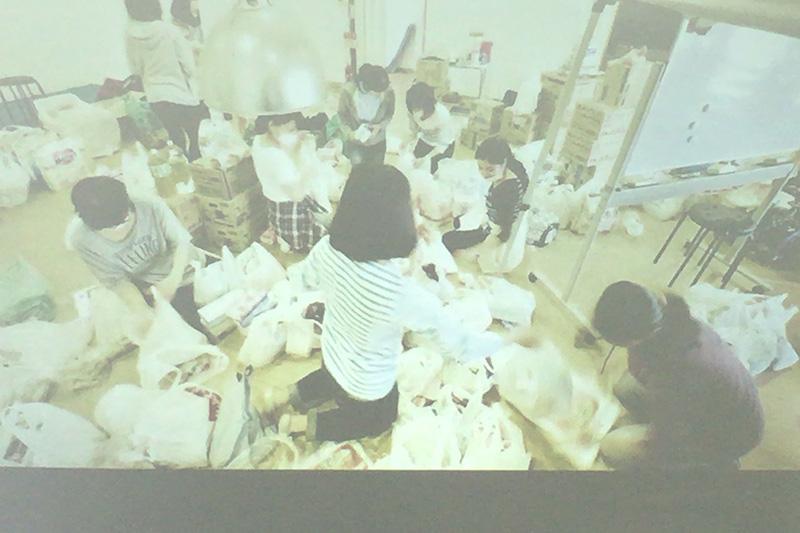 熊本地震:九州キリスト災害支援センターの中村陽志牧師が大阪で報告会 継続的な支援を訴える