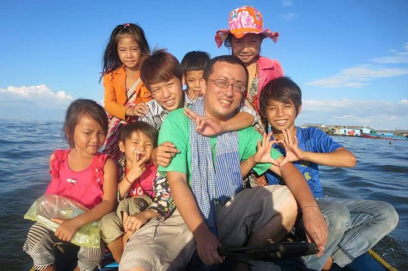 日本カトリック信徒宣教者会 カンボジアの水上村で活動する井手司さん、一時帰国報告会開催