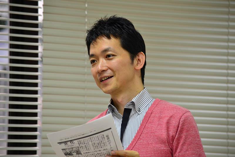 「キリスト教『にわかファン』問題を考える」とのテーマで講演する松谷信司氏=9日、千葉県船橋市で