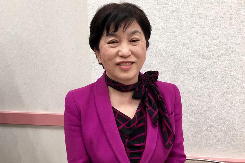 福島みずほ参議院議員=3月26日、埼玉県所沢市の「男女共同参画推進センターふらっと」で