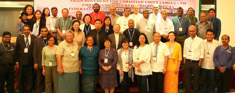 「われら共通の故郷における気候変動の危機」をテーマに13日から15日までインドネシアのスマトラ島東北部にある都市・メダンで行われた「キリスト教の一致のためのアジア運動」(AMCU)第7回サミットの参加者たち(写真:アジアキリスト教協議会[CCA])
