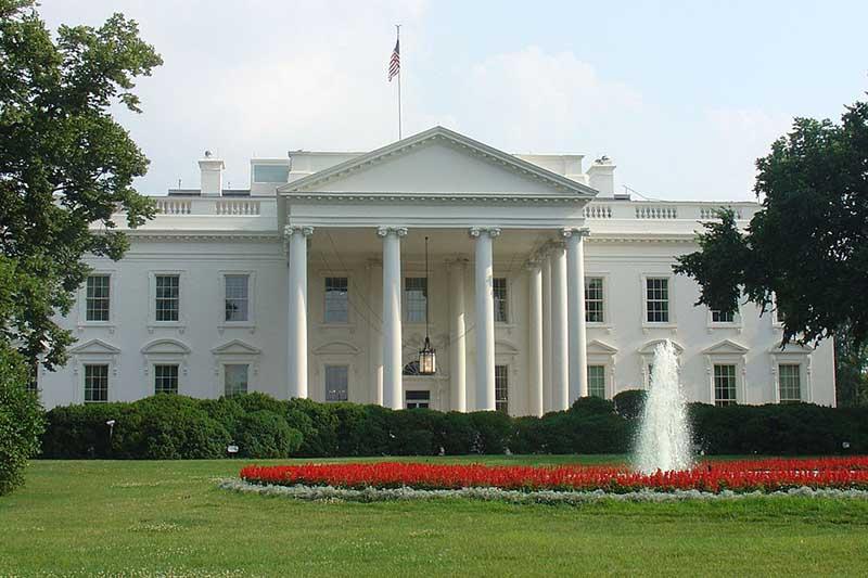 米首都ワシントンにあるホワイトハウス