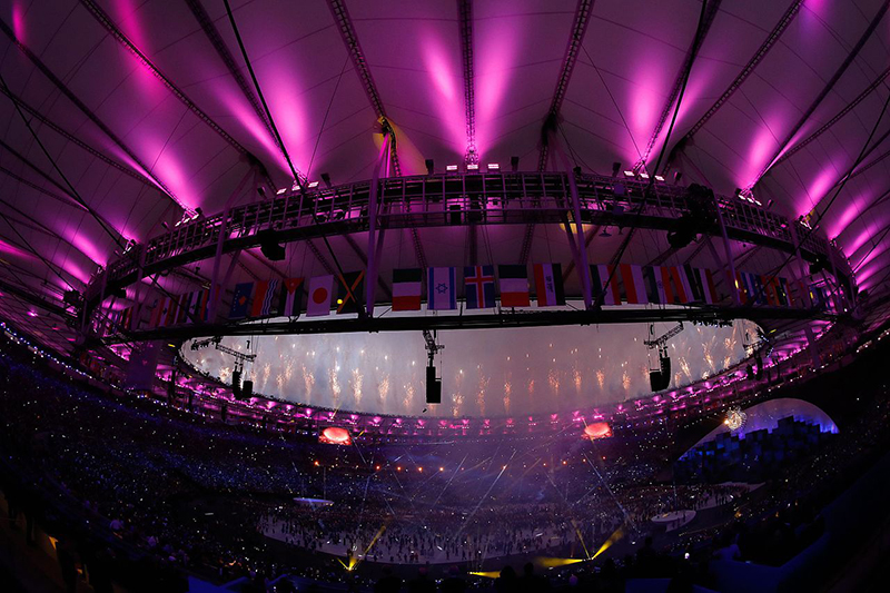 リオ五輪の開会式の様子=5日(写真:Agencia Brasil)<br />