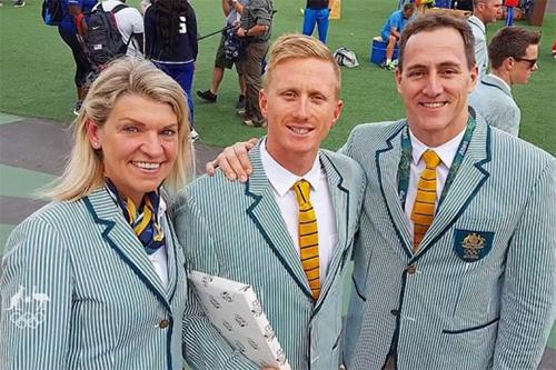 オーストラリアの水泳選手ダニエル・スミス(中央)(写真:2016オーストラリア五輪チーム公式サイトの動画より)