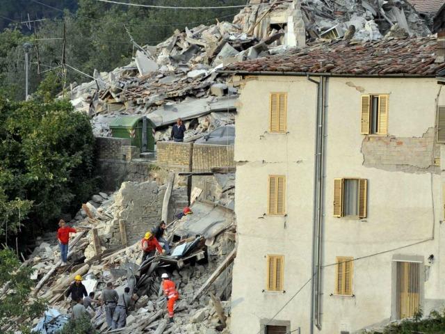 イタリア中部の地震で甚大な破壊が起きた(写真:Caritas Italiana)