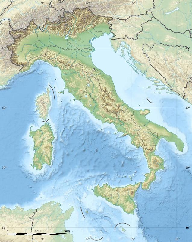 イタリアの地図(画像:Eric Gaba)