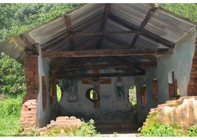 2008年の暴動で破壊されたカンダマル地区の教会