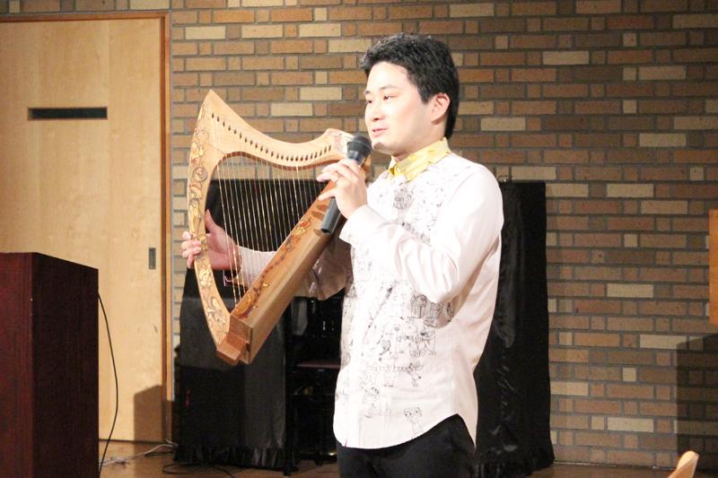 明治学院大レクチャーコンサート「アイリッシュ・ハープの歴史と音楽」 寺本圭佑氏が講演、コンサートも