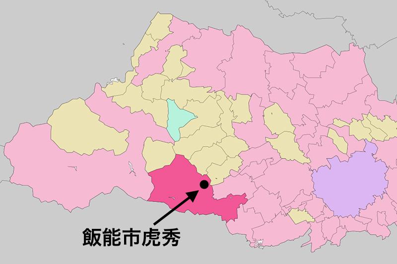 埼玉県飯能市虎秀(こしゅう)(図:Lincun)
