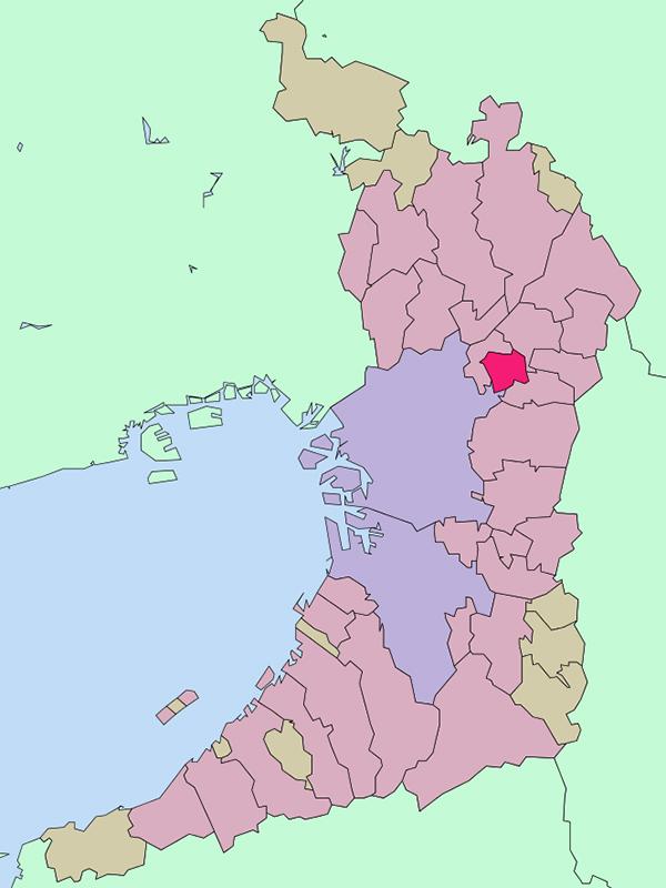 大阪府門真市(図:Lincun)