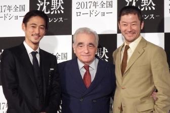 映画「沈黙」日本公開日決定 スコセッシ監督、出演した窪塚洋介・浅野忠信と来日記者会見