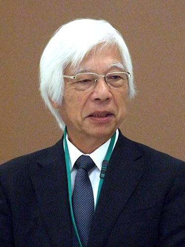 日本基督教団第40回総会期議長に選ばれた石橋秀雄氏=2012年<br />