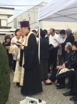 大阪・泉大津市のロシア兵墓地で日露戦争捕虜の慰霊祭 国交回復60年で