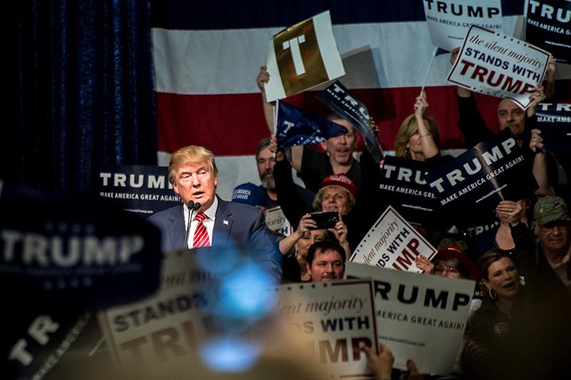 第45代米大統領に選出されたドナルド・トランプ氏=1月10日、米ネバダ州で(写真:Darron Birgenheier)