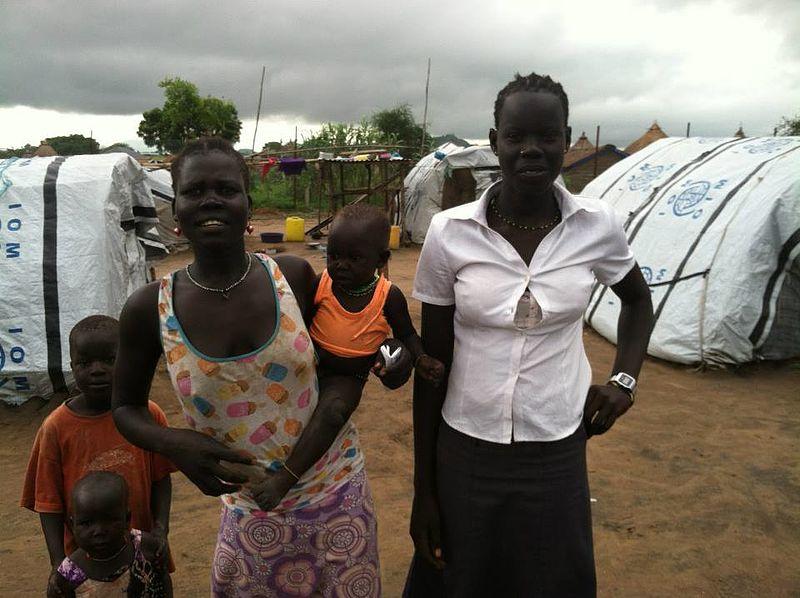 南スーダンの首都ジュバにいる国内避難民(2014年7月に撮影、写真:Jhr008)