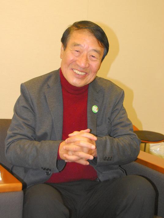 本紙のインタビューに答えた元農林水産大臣でカトリック信者の山田正彦氏=24日、衆議院第二議員会館(東京都千代田区)で