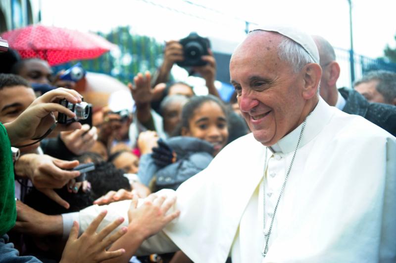 ローマ教皇フランシスコ=2013年7月27日(写真:Agência Brasil)