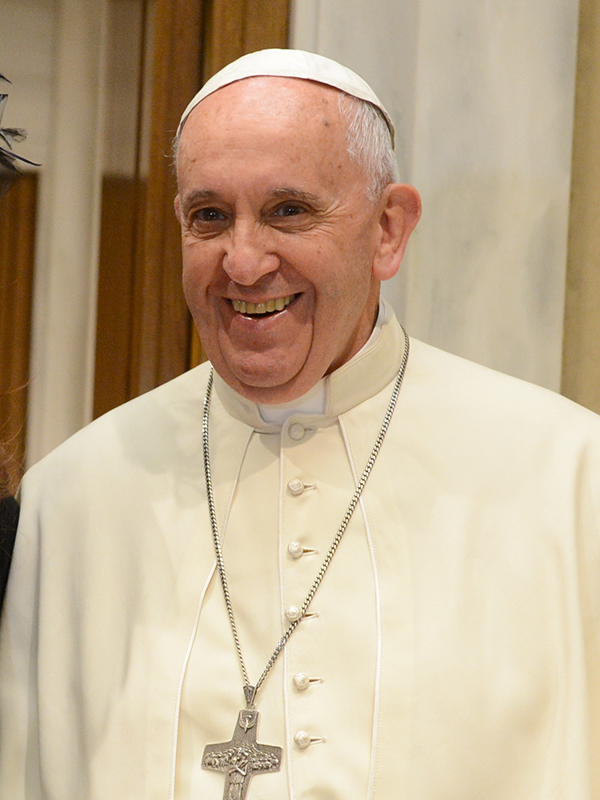 ローマ教皇フランシスコ=2015年6月7日(写真:Casa Rosada)