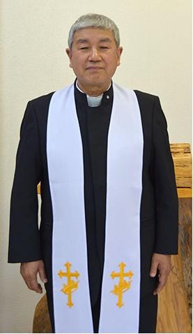 元警察官で、現在はアメイジング・グレイス聖書教会に仕える小林政英牧師。「全ては神様の導きがあったから」と話す。