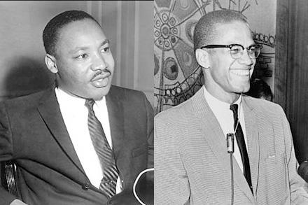 キング牧師(写真左)とマルコム・X氏
