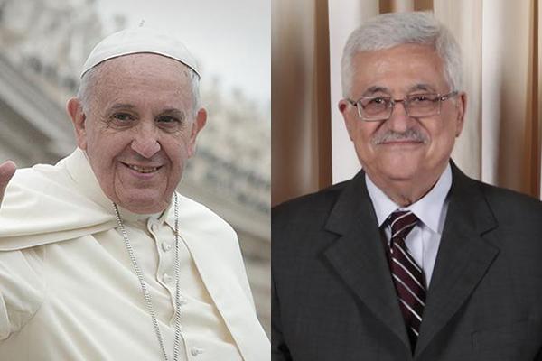 ローマ教皇フランシスコ(左)とパレスチナ自治政府のマフムード・アッバス議長(写真:Jeffrey Bruno / Official White House Photo, Lawrence Jackson)<br />