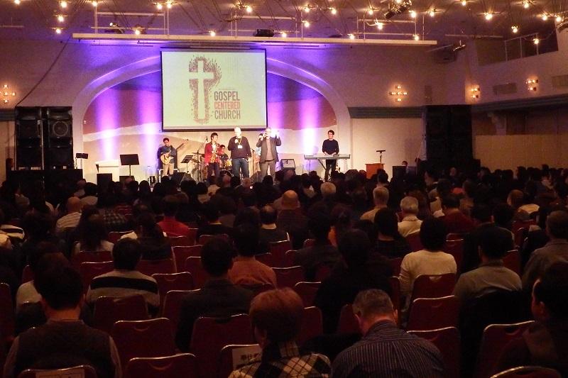 「日本ペンテコステ親交会(JPF)カンファレンス2017」の様子。今大会のテーマは「GOSPEL CENTERED CHURCH(福音を中心とした教会)」=8日、ヤマハリゾートつま恋(静岡県掛川市)で