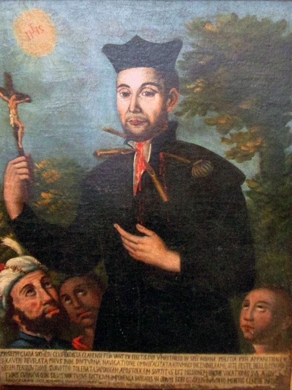 映画「沈黙」のロドリゴ神父のモデルとなったキアラ神父の殉教画