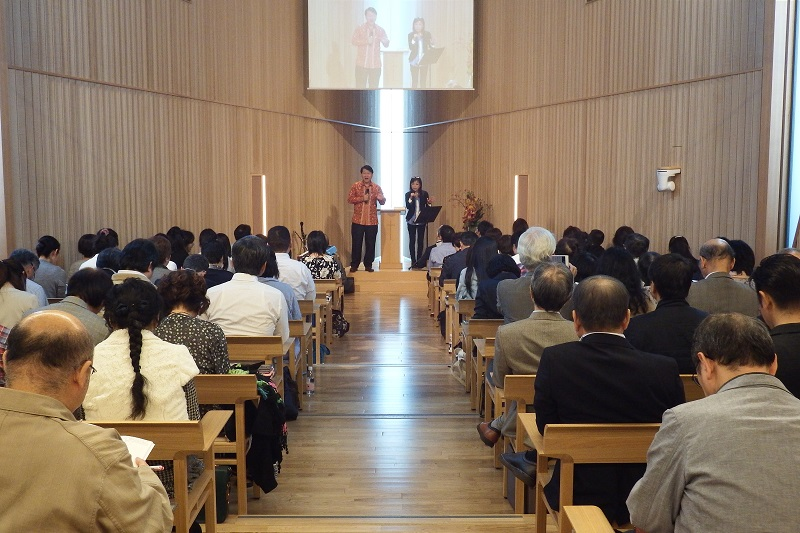 昨年10月に開講された第1回「ファイヤースクール集中講座」の様子=21世紀キリスト教会(東京都渋谷区)で