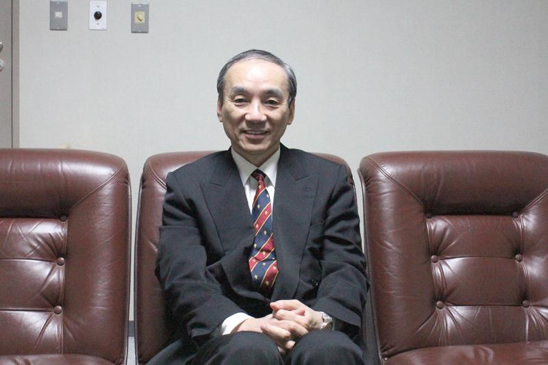卒業式・学位授与式の後、インタビューに応じてくれた東京基督教大学学長の小林高徳氏=10日、東京基督教大学(TCU、千葉県印西市)で