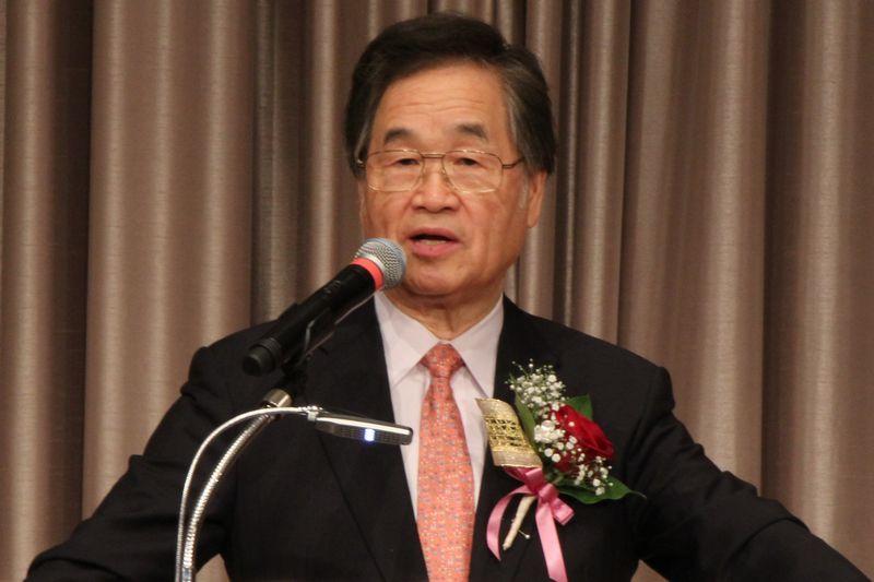 メッセージを語る大和カルバリーチャペル主任牧師の大川従道氏=24日、京王プラザホテル(東京都新宿区)で