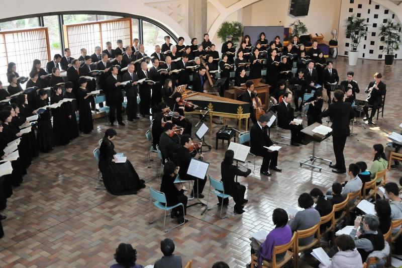 2015年3月にウェスレアン・ホーリネス教団淀橋教会で行われたヨハネス・カントーレスの第10回演奏会(写真:ヨハネス・カントーレス提供)<br />