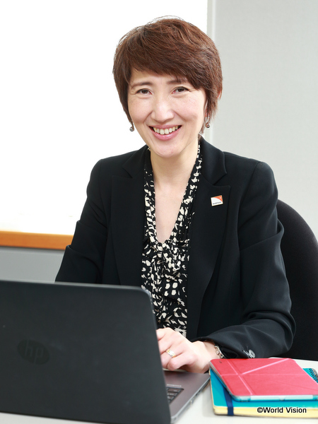 ワールド・ビジョン・ジャパンの新事務局長に就任した木内(きない)真理子氏