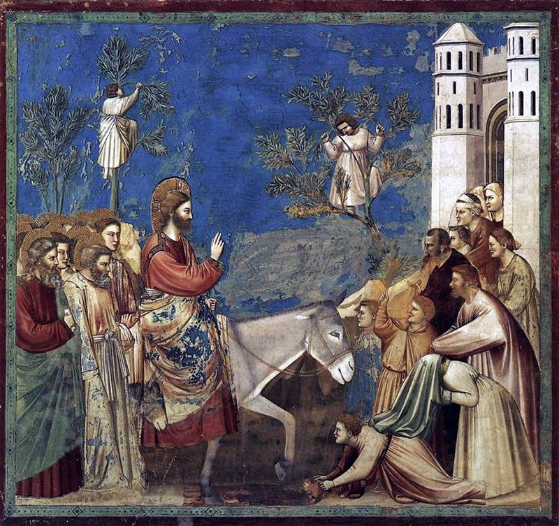 ジョット作「イエスの入城」(1304~06年)