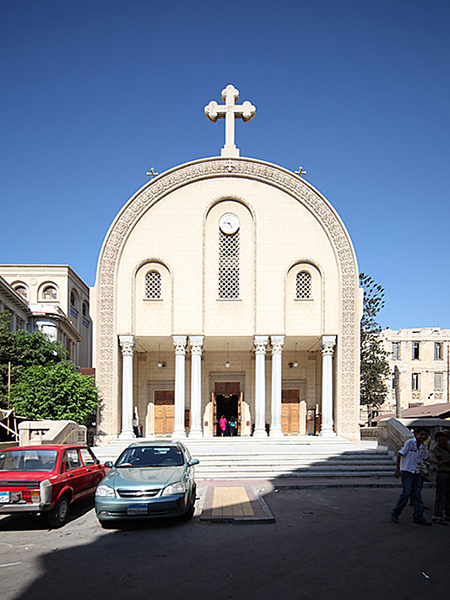 爆発テロがあったアレクサンドリアの聖マルコ大聖堂=2010年9月19日(写真:Roland Unger)<br />