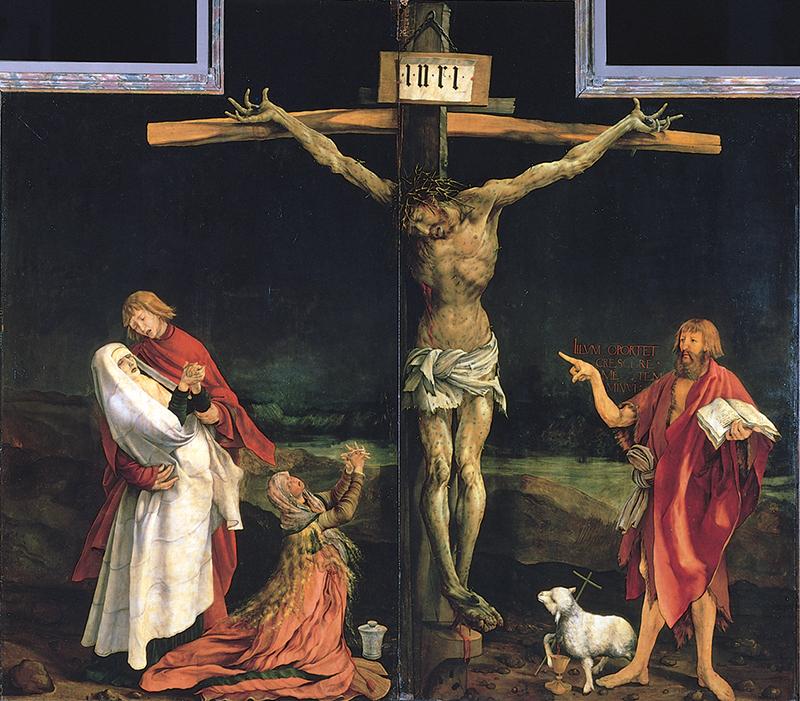 グリューネヴァルト「イーゼンハイム祭壇画」(第1面、1511~15年)