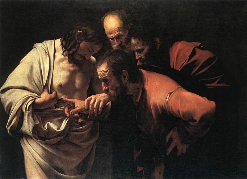 カラヴァッジョ「聖トマスの不信」(1601~02年)