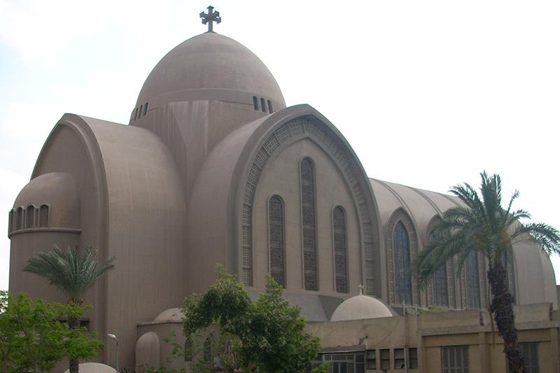 エジプトの首都カイロにあるコプト正教会の聖マルコ大聖堂(写真:Ashashyou)