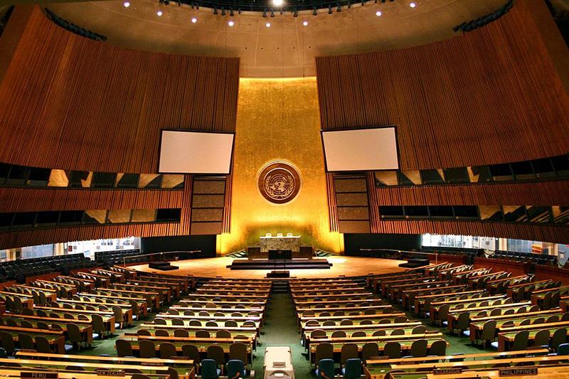 国連総会会議場(写真:Patrick Gruban)