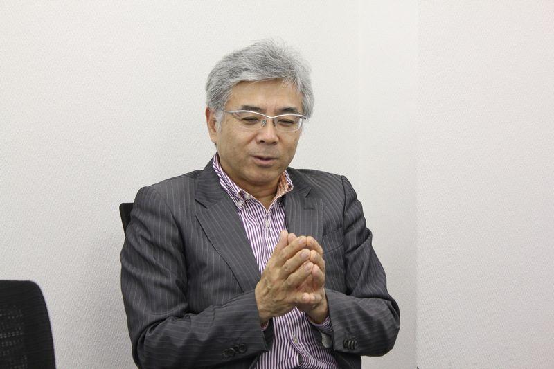 妹尾光樹牧師=4月25日、クリスチャントゥデイ事務所(東京都千代田区)で