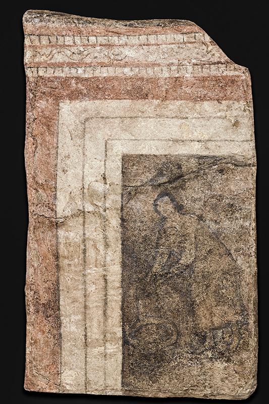 シリア東部のドゥラ・エウロポス遺跡で1920年代に発見された壁画。当初は、イエスと出会ったサマリアの女(ヨハネ4章)を描いたものと考えられていたが、最近では、聖母マリアを描いたものではないかと考えられている。(写真:イェール大学)
