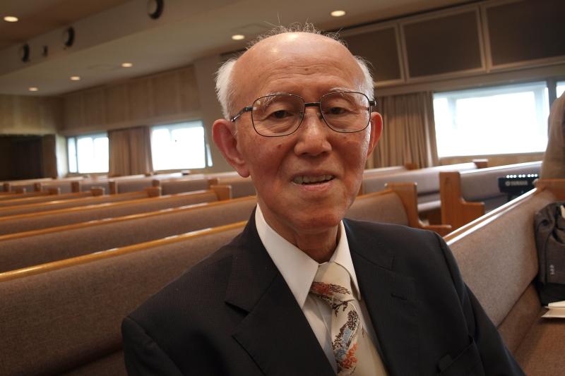 尾山令仁牧師=5月3日、聖書キリスト教会(東京都練馬区)で