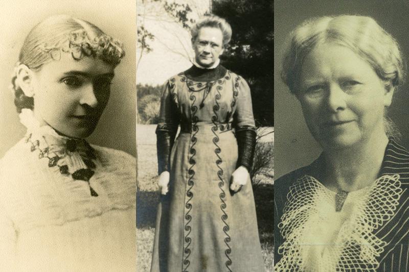 左から、メアリー・J・ホルブルック、マイラ・E・ドレーパー、ファニー・G・ウィルソン。(写真:青山学院資料センター提供)