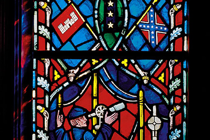 米国の首都ワシントンにあるワシントン大聖堂(聖公会)のステンドグラス(写真:同大聖堂)<br />