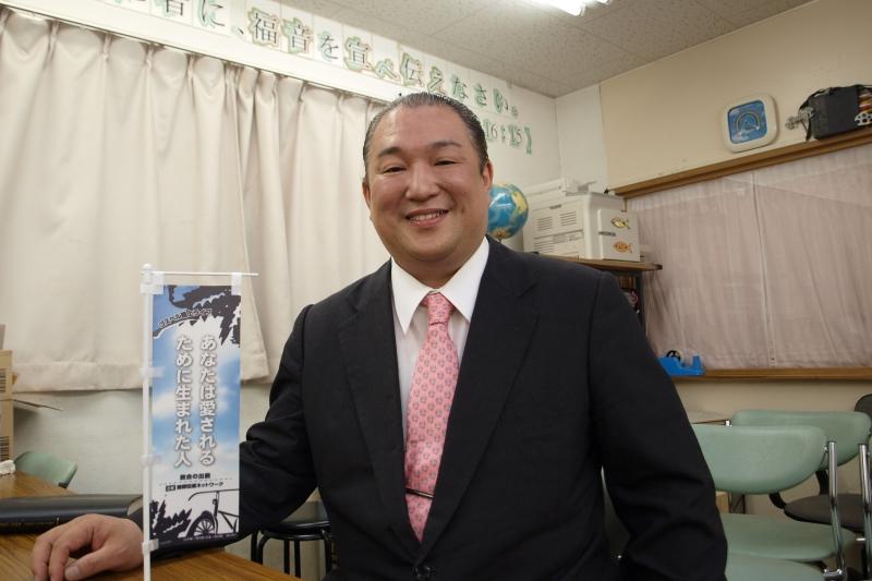菅野直基氏=16日、新宿福興教会(東京都新宿区)で