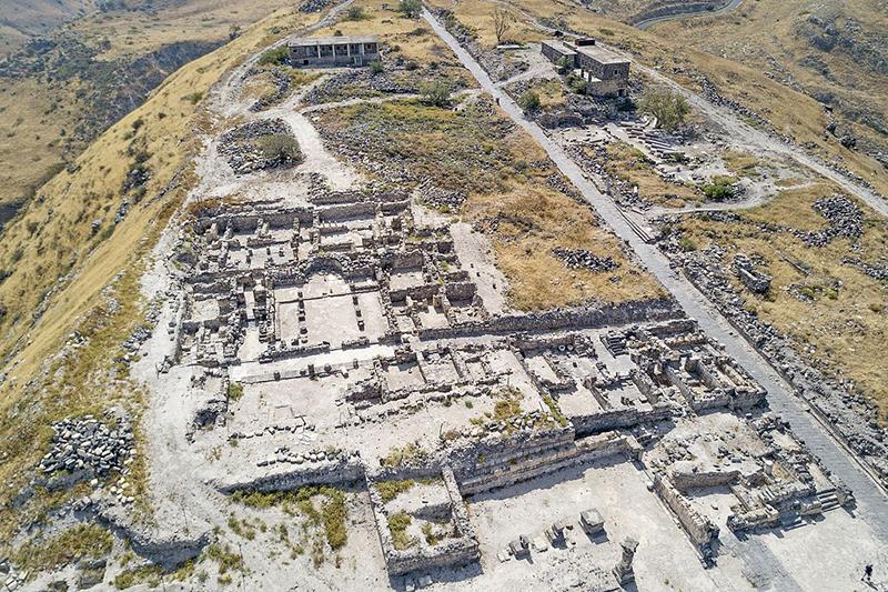 イスラエルのガリラヤ湖に近い場所にある「ヒッポス・スシタ遺跡」=2017年4月(写真:Michael Eisenberg)