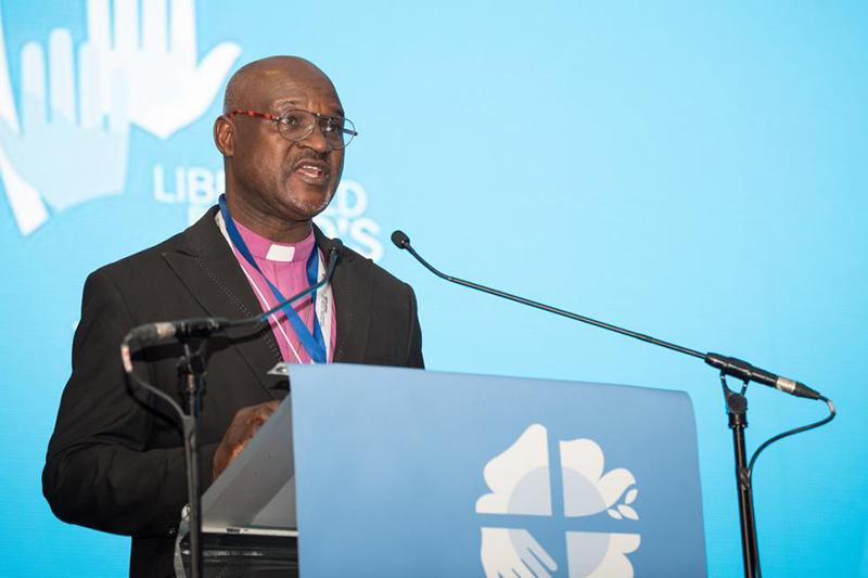 ルーテル世界連盟(LWF)の新議長に選出されたナイジェリア・ルーテル・キリスト教会のムサ・パンティ・フィリバス大監督(写真:LWF / Albin Hillert)
