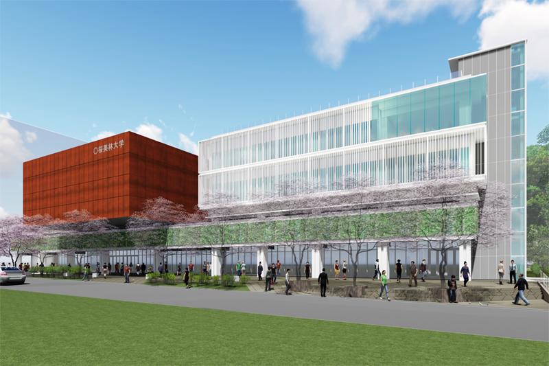 2019年4月に新宿百人町に開設される桜美林大学の新キャンパス。(写真:桜美林大学提供)